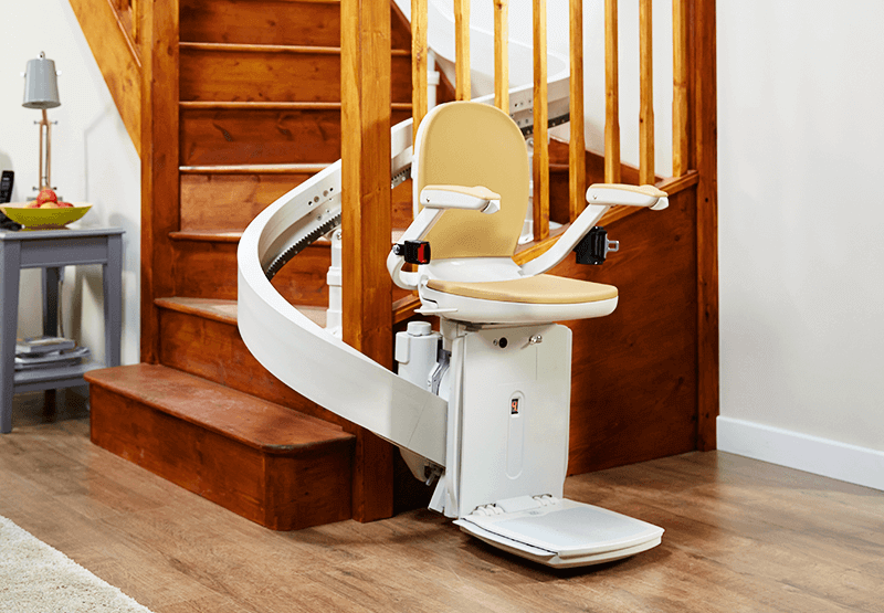 Image of Acorn 180 Curved Stairlift in use
